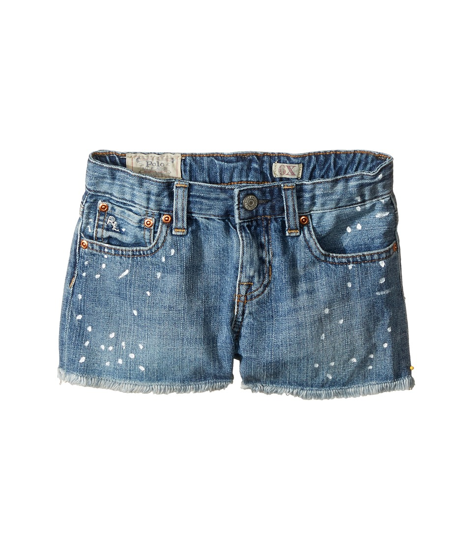 Polo Ralph Lauren Kids - Paint Splat Shorts in Jess Wash (Little Kids) (Jess Wash) Girl's Jeans