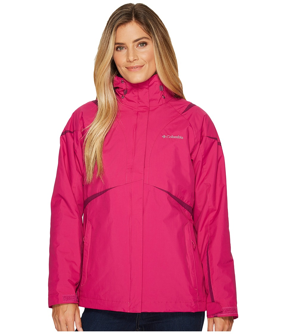 Columbia Blazing Star Interchange Jacket (Deep Blush/Dark Raspberry) Women