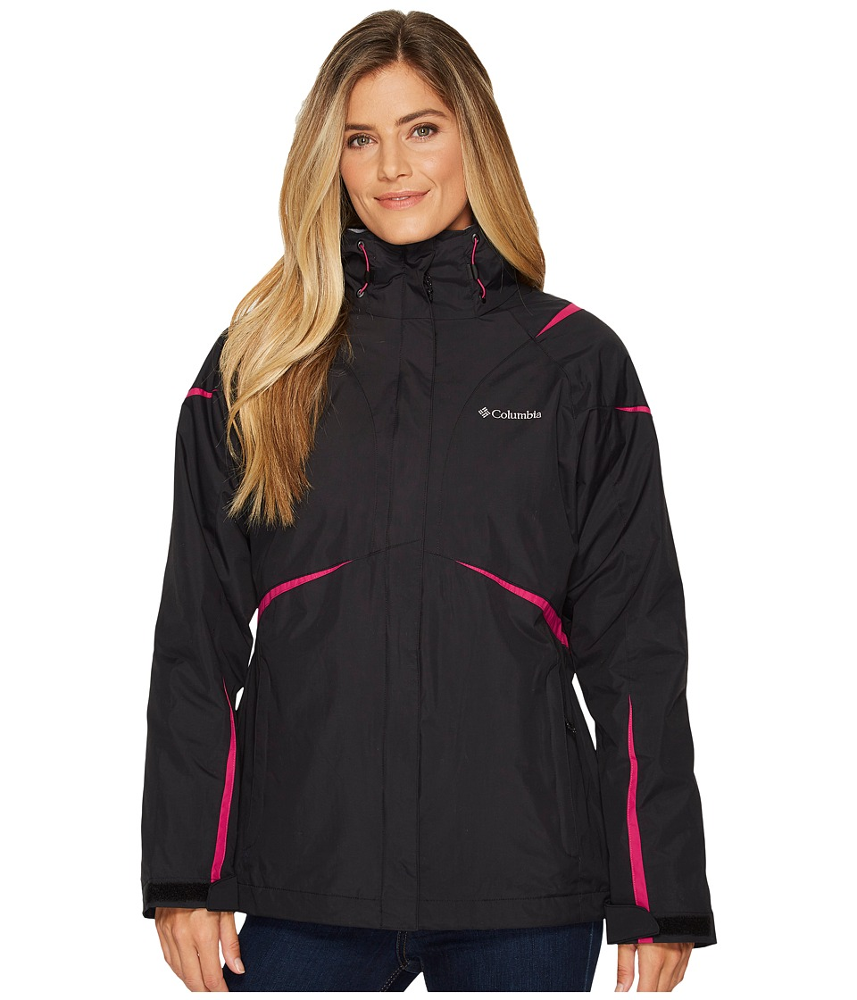 Columbia Blazing Star Interchange Jacket (Black/Deep Blush) Women