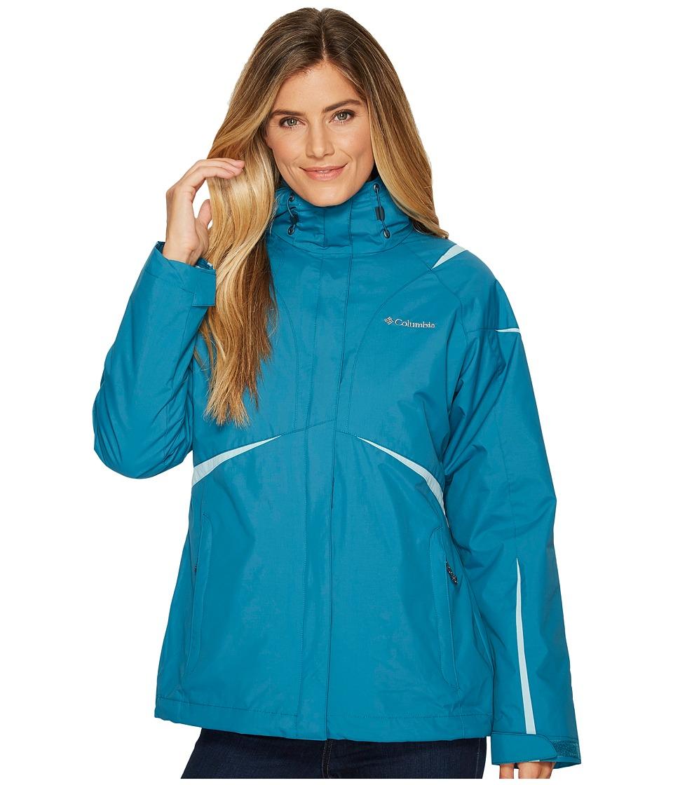 Columbia Blazing Star Interchange Jacket (Aegean Blue/Aqua Haze) Women