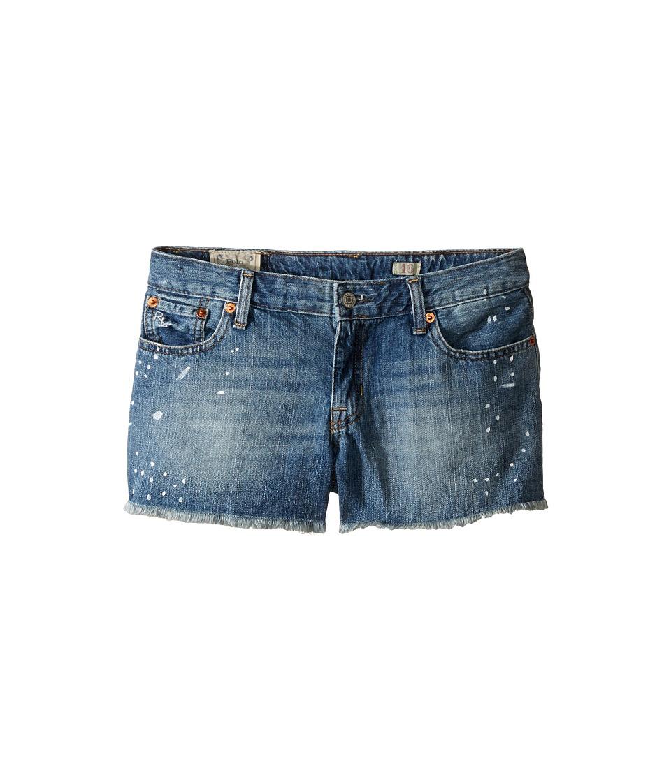 Polo Ralph Lauren Kids - Paint Splat Shorts in Jess Wash (Big Kids) (Jess Wash) Girl's Jeans