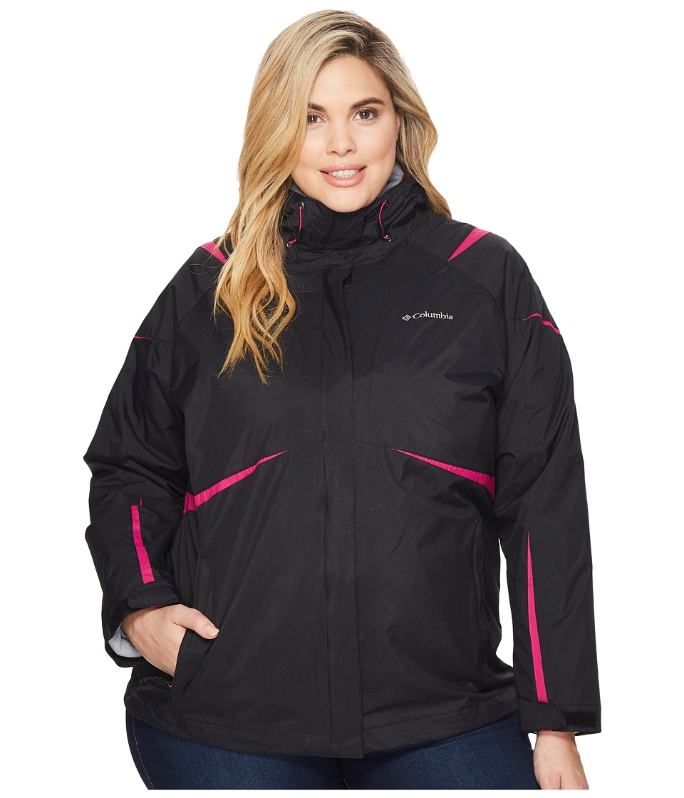 Columbia Plus Size Blazing Startm Interchange Jacket (Black/Deep Blush) Women