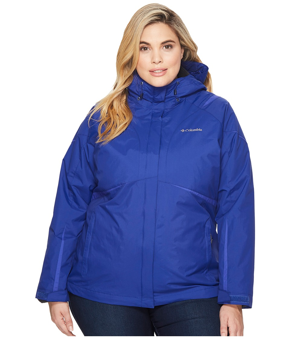 Columbia Plus Size Blazing Startm Interchange Jacket (Dynasty/Clematis Blue) Women