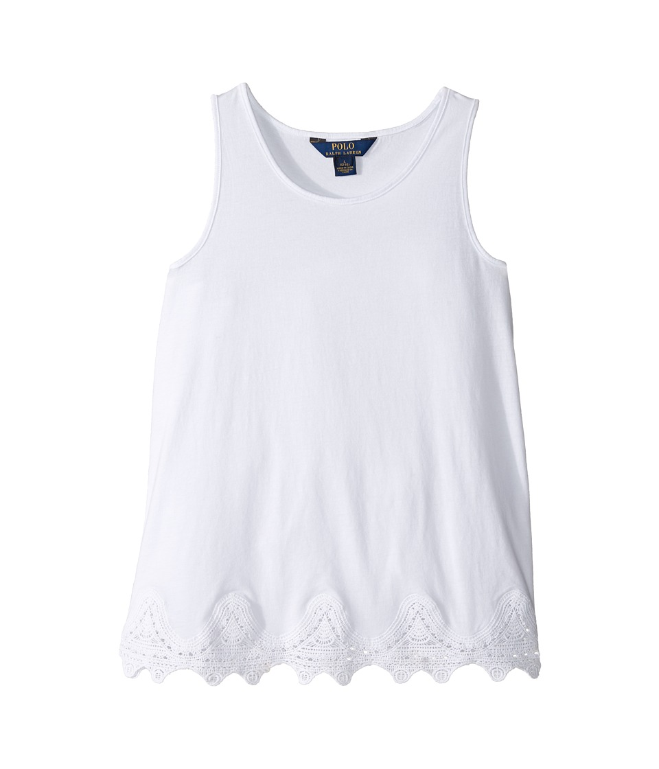 Polo Ralph Lauren Kids - Solid Tank Top (Little Kids/Big Kids) (Pure White) Girl's Sleeveless