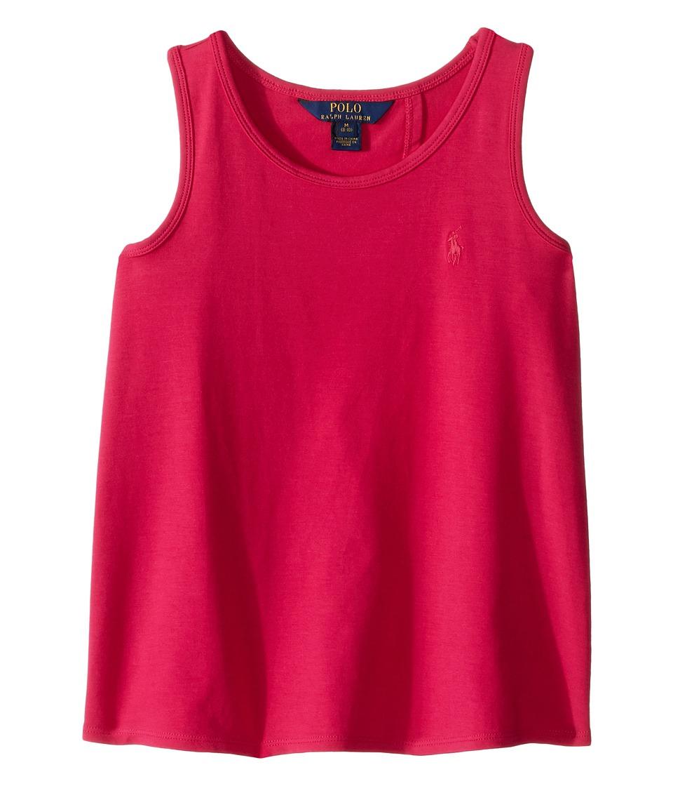 Polo Ralph Lauren Kids - Solid Tank Top (Little Kids/Big Kids) (Pink) Girl's Sleeveless