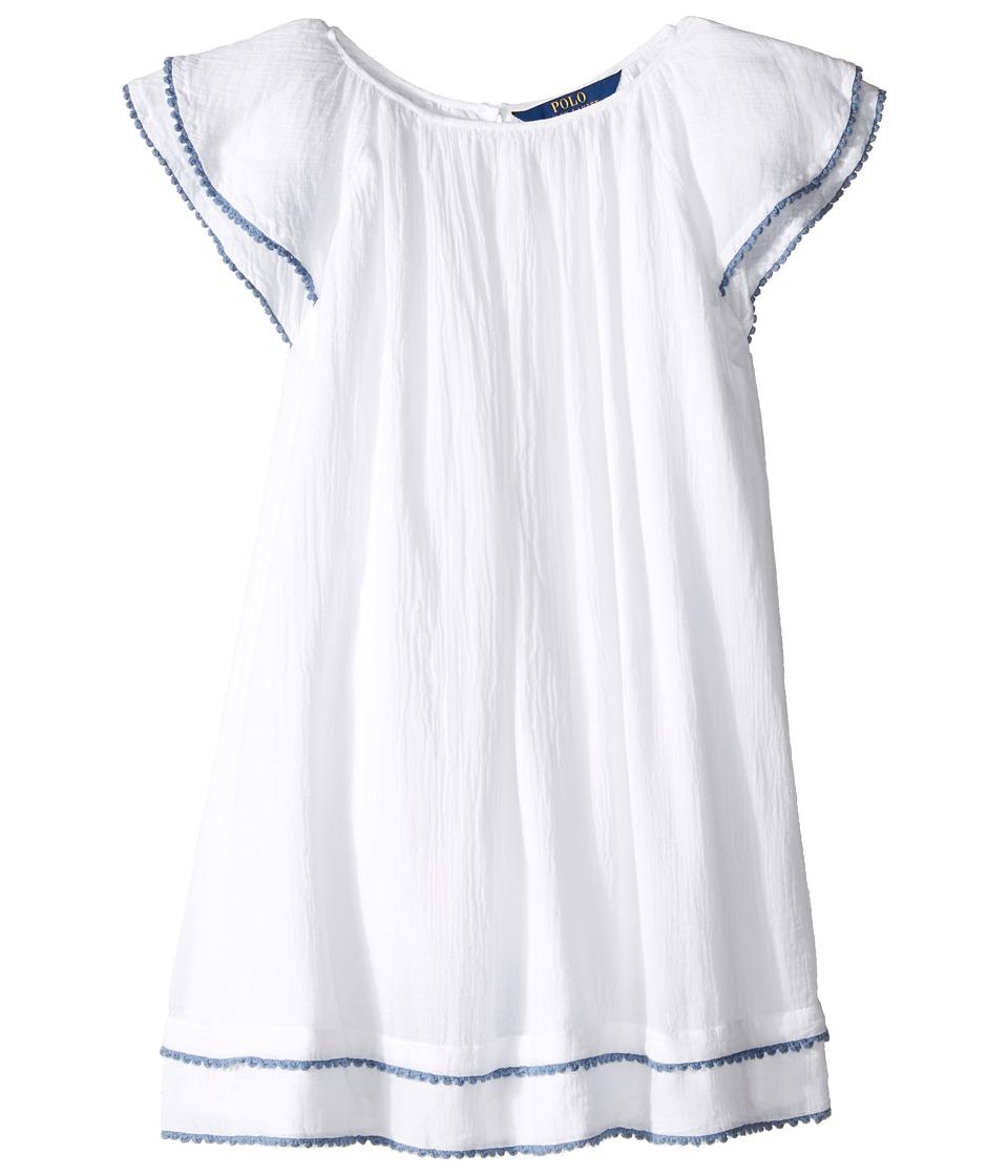 Polo Ralph Lauren Kids - Gauze Tassel Dress (Big Kids) (Pure White) Girl's Dress