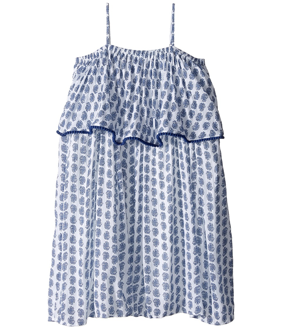 Polo Ralph Lauren Kids - Gauze Print Maxi Dress (Little Kids) (Blue Paisley) Girl's Dress