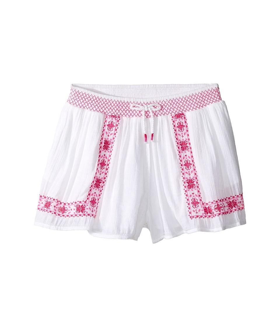 Polo Ralph Lauren Kids - Gauze Smocked Shorts (Big Kids) (Pure White) Girl's Shorts