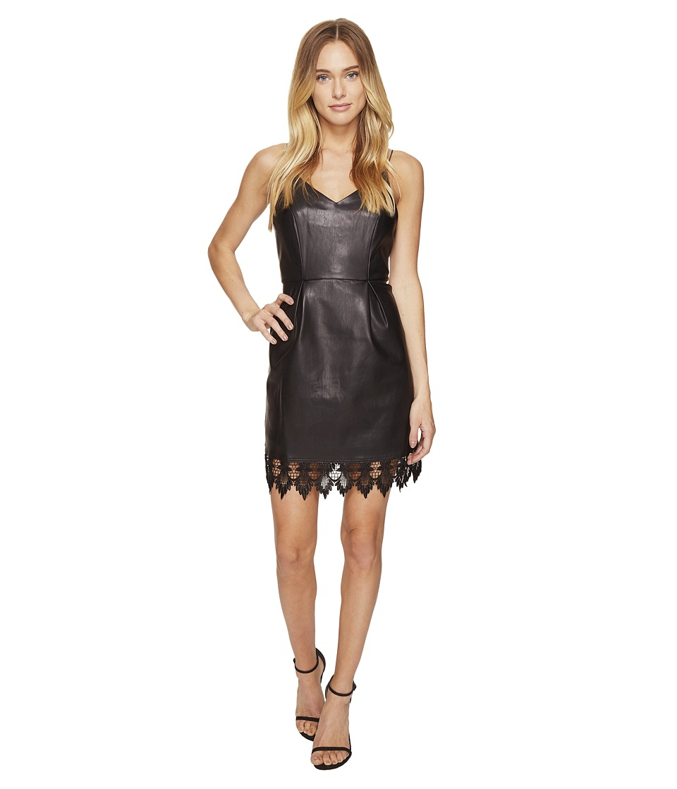 ROMEO & JULIET COUTURE PU and Lace Detailed Dress (Black) Women