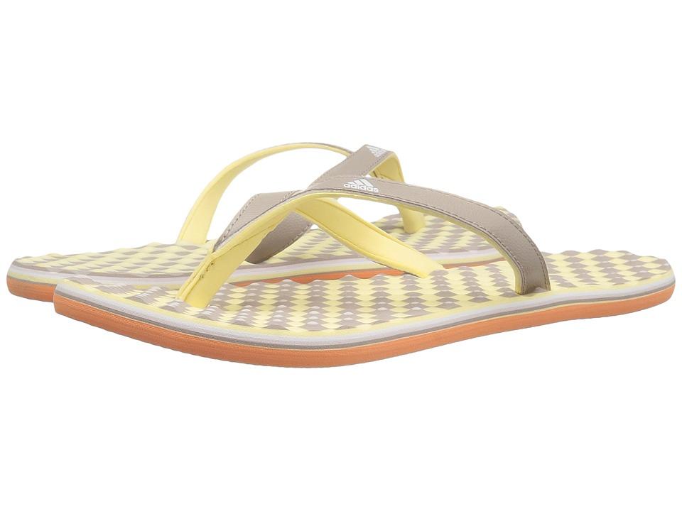 adidas - Eezay Dots (Vapour Grey/White/Easy Yellow) Women's Shoes