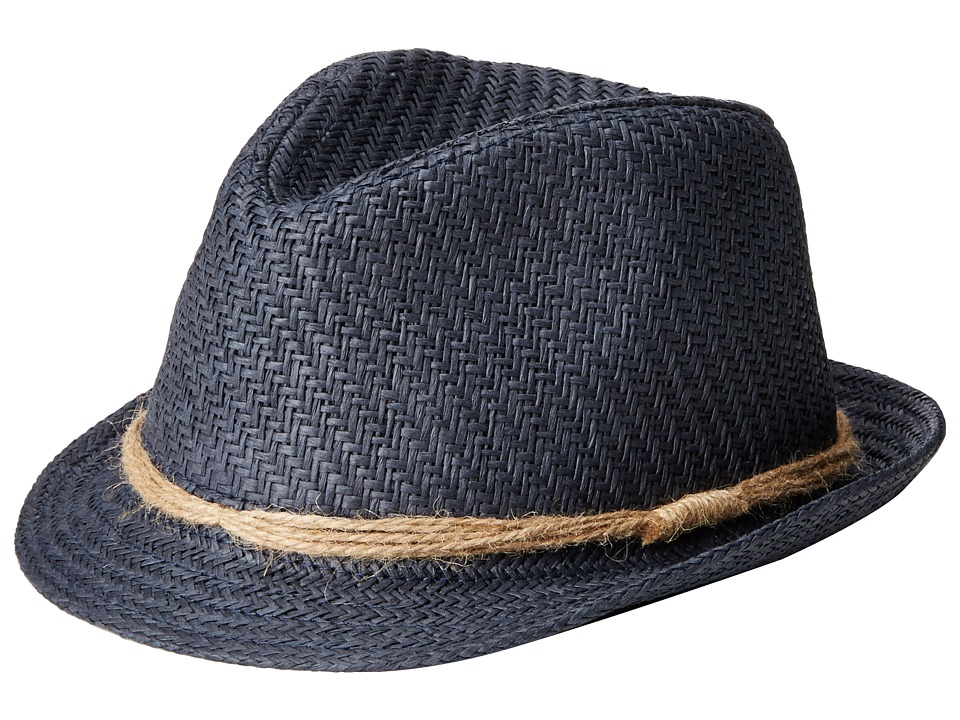 Appaman Kids - Houston Fedora (Infant/Toddler/Little Kids/Big Kids) (Navy Blue) Fedora Hats