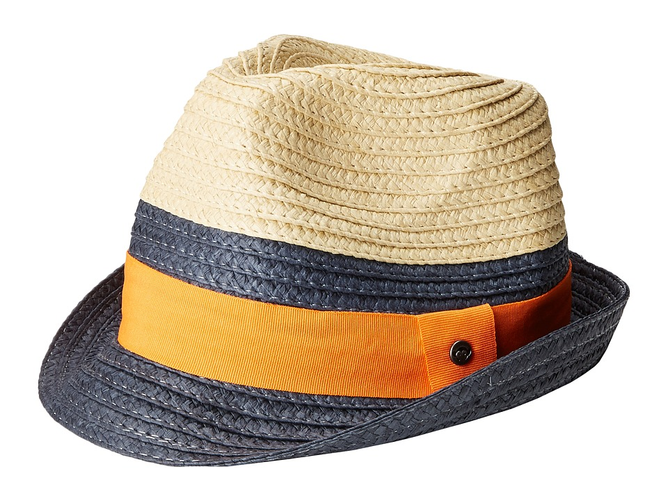 Appaman Kids - Mercer Fedora (Infant/Toddler/Little Kids/Big Kids) (Deep Cobalt) Fedora Hats