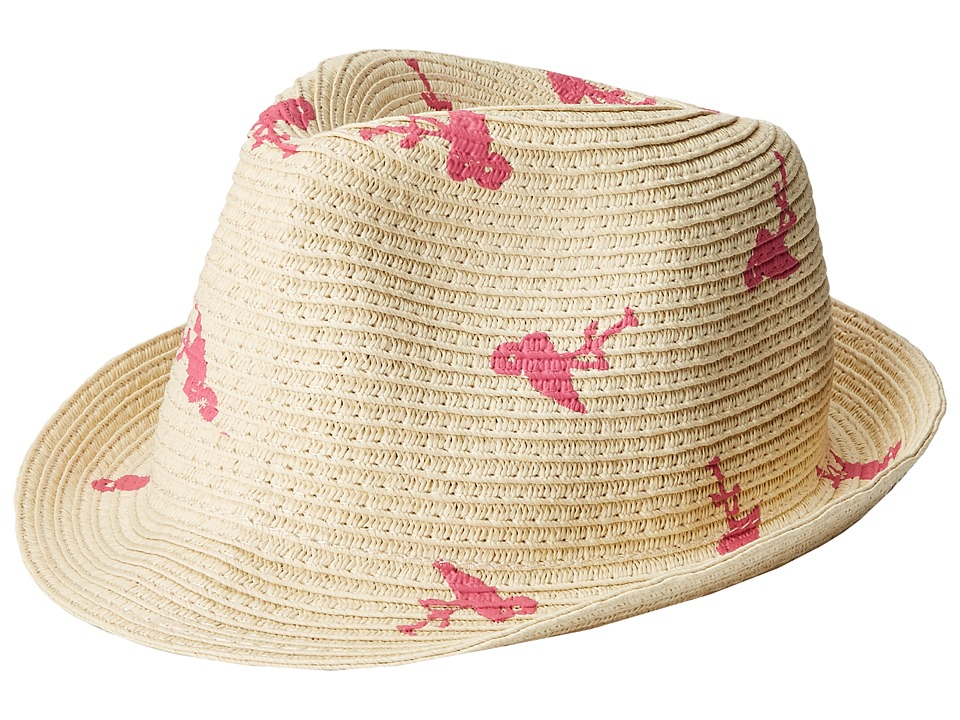 Appaman Kids - Audrey Fedora (Infant/Toddler/Little Kids/Big Kids) (Pink Flamingo) Fedora Hats