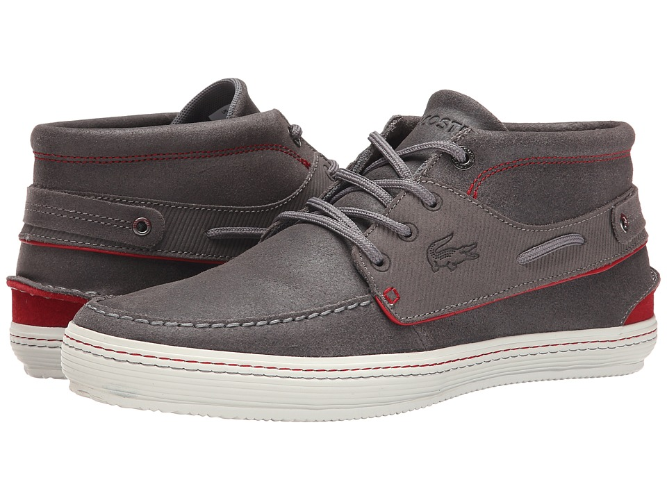 Lacoste - Meyssac Deck AP SRM (Dark Grey/Red) Men's Shoes