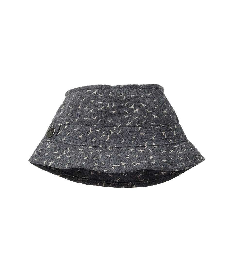 Appaman Kids - Fisherman Hat (Infant/Toddler/Little Kids/Big Kids) (Birds Grey) Caps