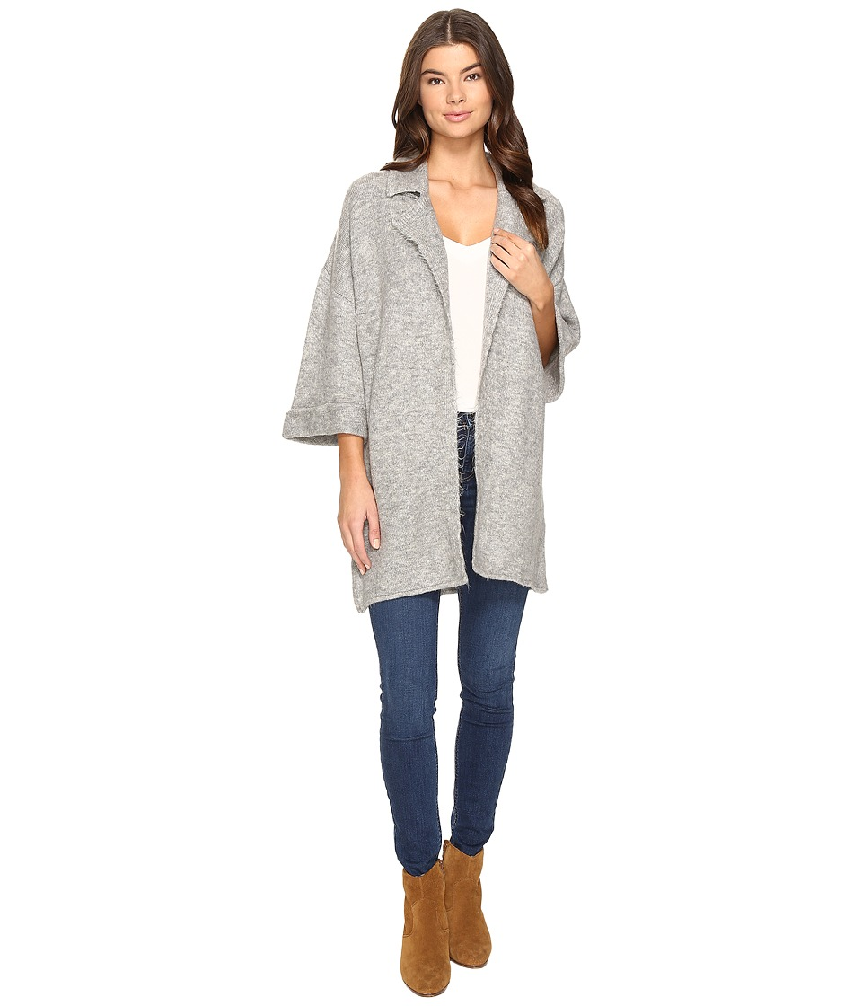 Mavi Jeans - Collared Cardi (Grey Melange) Women's Sweater