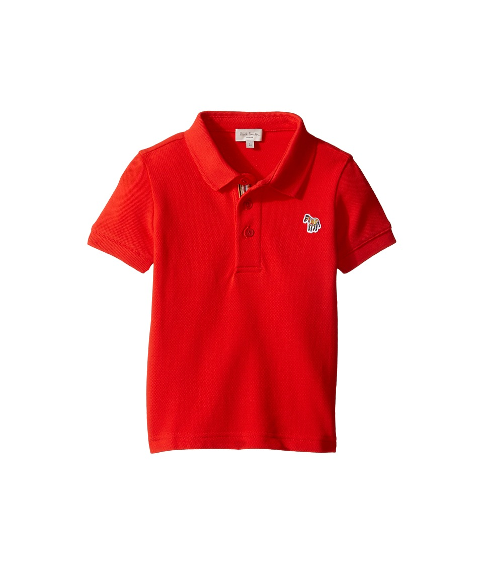 Paul Smith Junior - Short Sleeve Plain Red Polo (Toddler/Little Kids) (Fire Red) Boy's Short Sleeve Pullover
