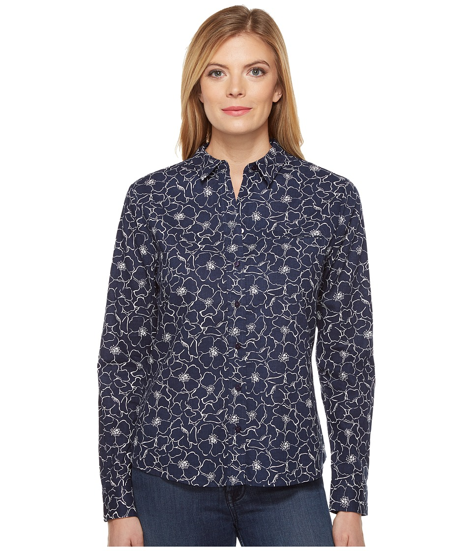 NYDJ - Linen/Cotton Shirt (French Market Floral) Women's Clothing