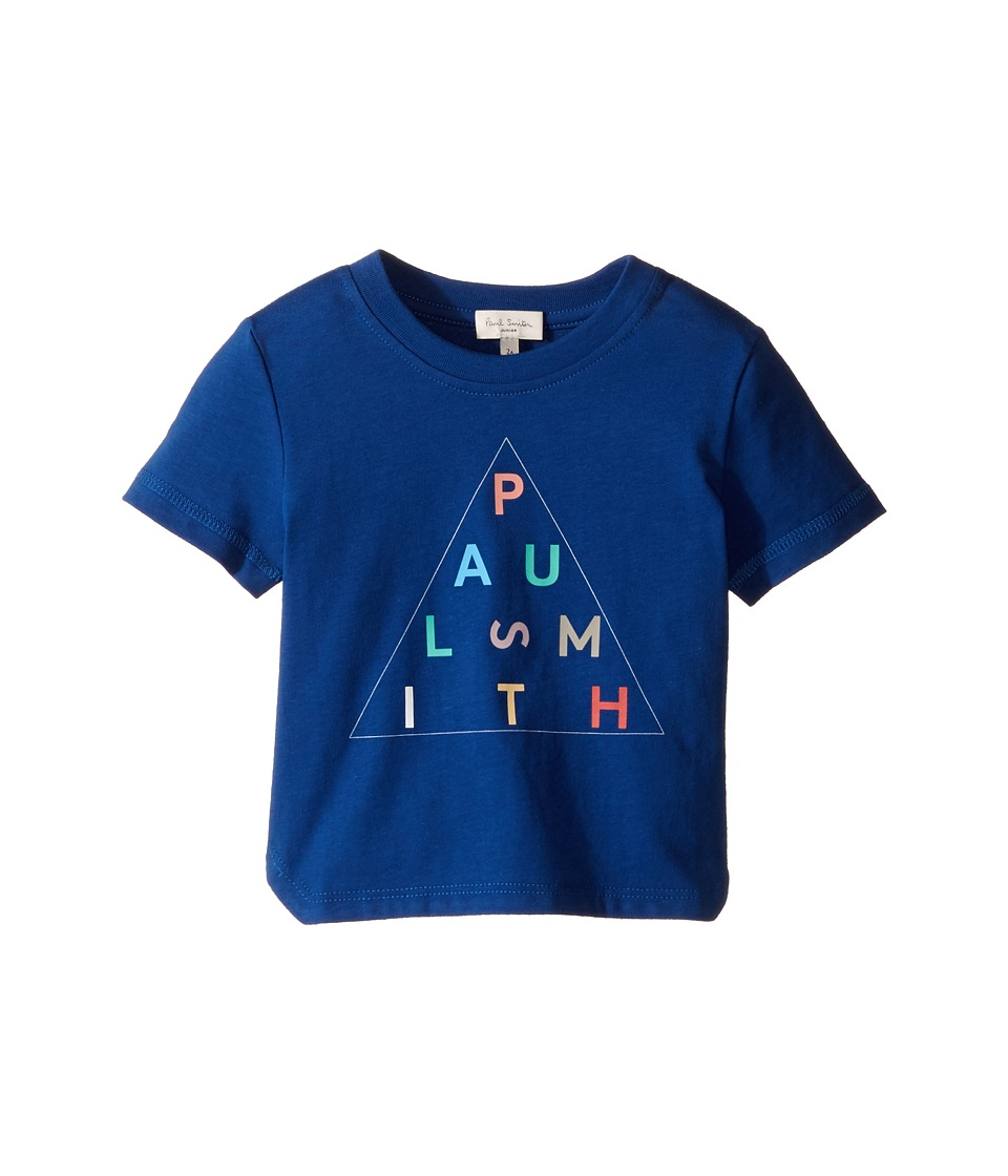 Paul Smith Junior - Short Sleeve Navy Paul Smith Logo Tee (Toddler/Little Kids) (Deep Blue) Boy's T Shirt