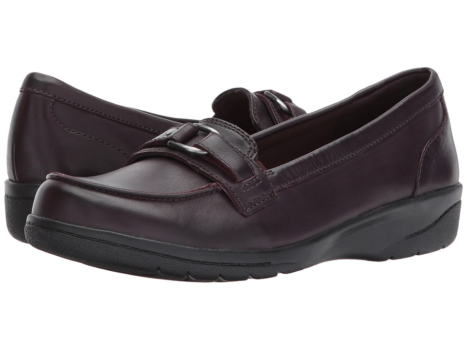Clarks - Cheyn Marie (Aubergine Leather) Women's Shoes