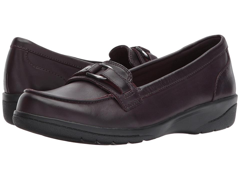 Clarks - Cheyn Marie (Aubergine Leather) Women's Shoes