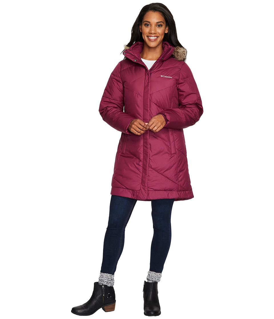 Columbia - Snow Eclipsetm Mid Jacket (Dark Raspberry 1) Women's Coat