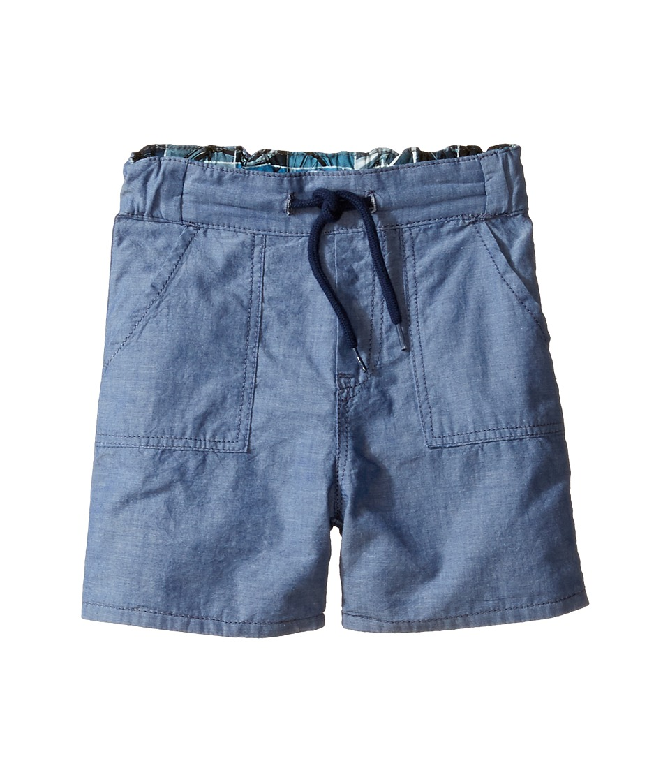 Paul Smith Junior - Bike/Chambray Reversible Shorts (Toddler/Little Kids) (Chambray Blue) Boy's Shorts
