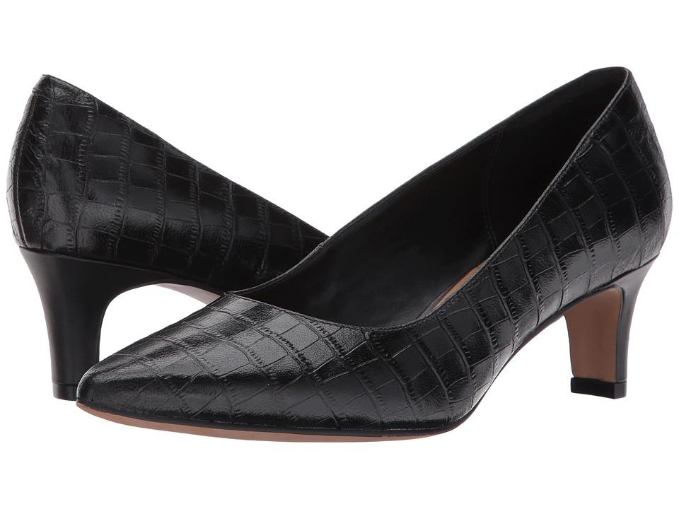 Clarks - Crewso Wick (Black Croc) Women's Shoes