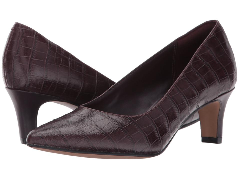 Clarks - Crewso Wick (Burgundy Croco) Women's Shoes