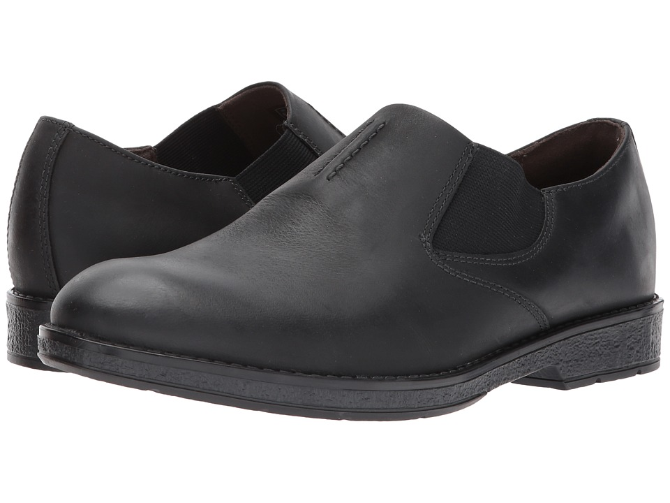 Clarks - Hinman Step (Black Leather) Men's Shoes