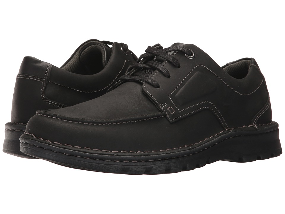 Clarks - Vanek Apron (Black Leather) Men's Shoes