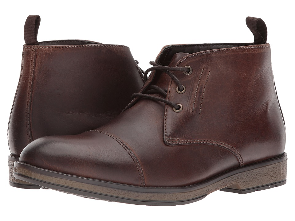Clarks - Hinman Mid (Mahogany Leather) Men's Shoes