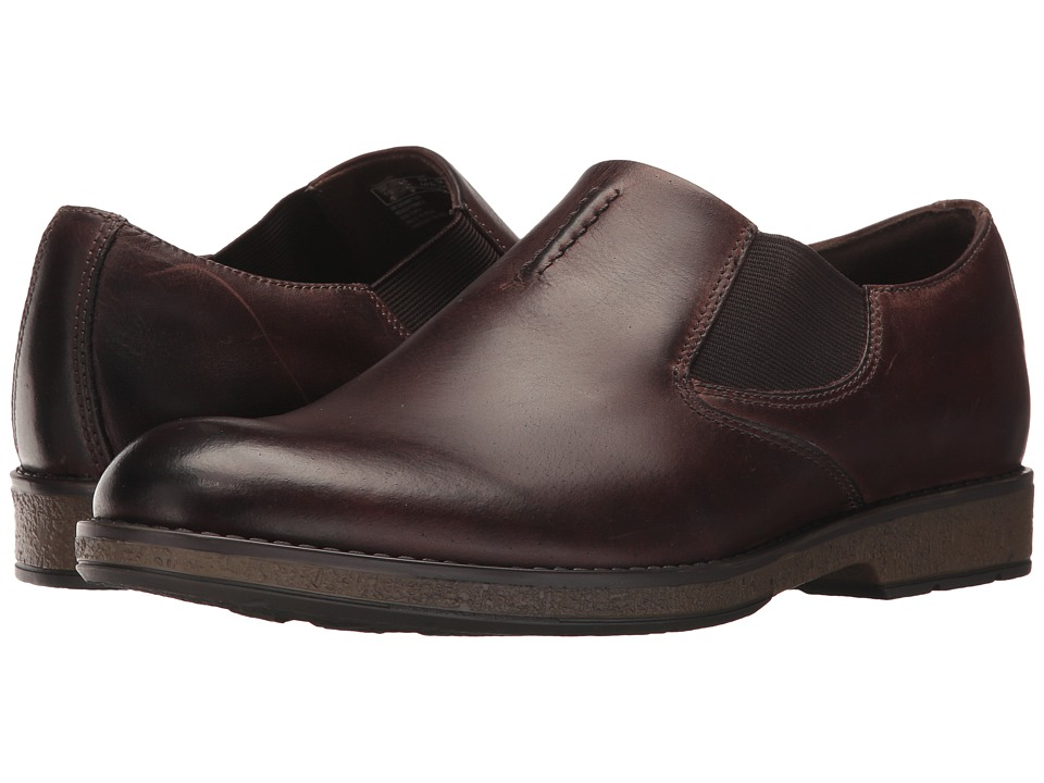 Clarks - Hinman Step (Mahogany Leather) Men's Shoes