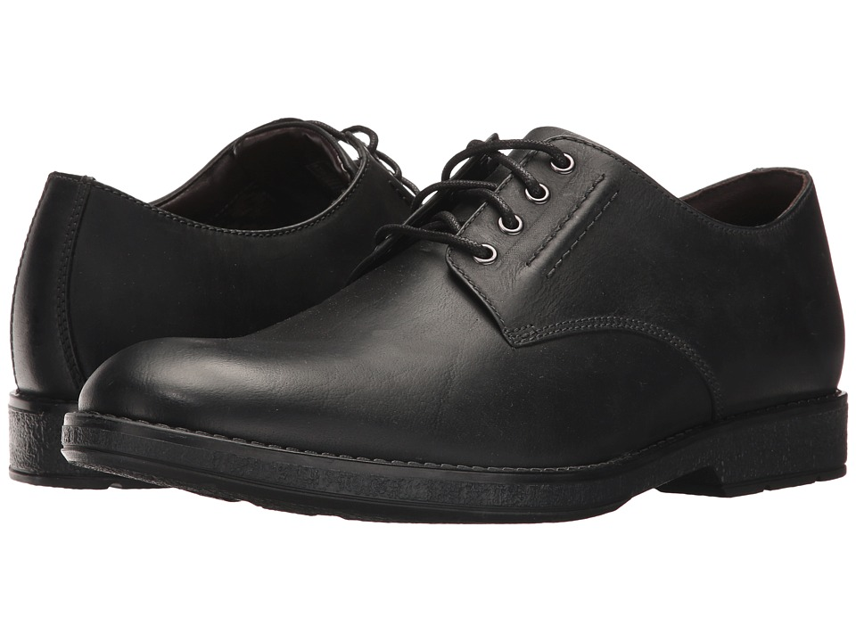 Clarks Hinman Plain (Black Leather) Men