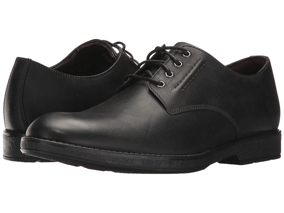 Clarks - Hinman Plain (Black Leather) Men's Shoes