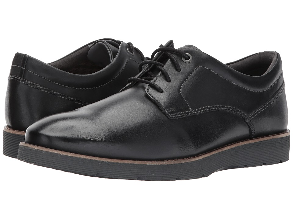 Clarks Folcroft Plain (Black Leather) Men