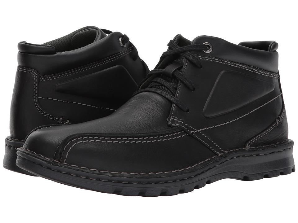 Clarks - Vanek Rise (Black Oily Leather) Men's Shoes