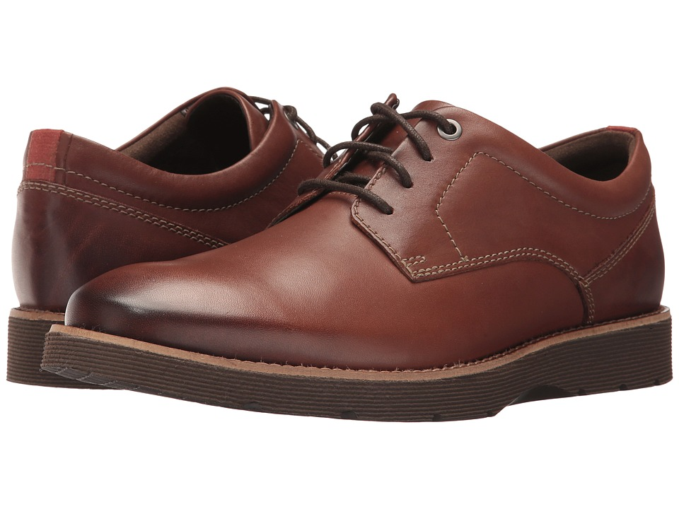 Clarks Folcroft Plain (Dark Tan Leather) Men