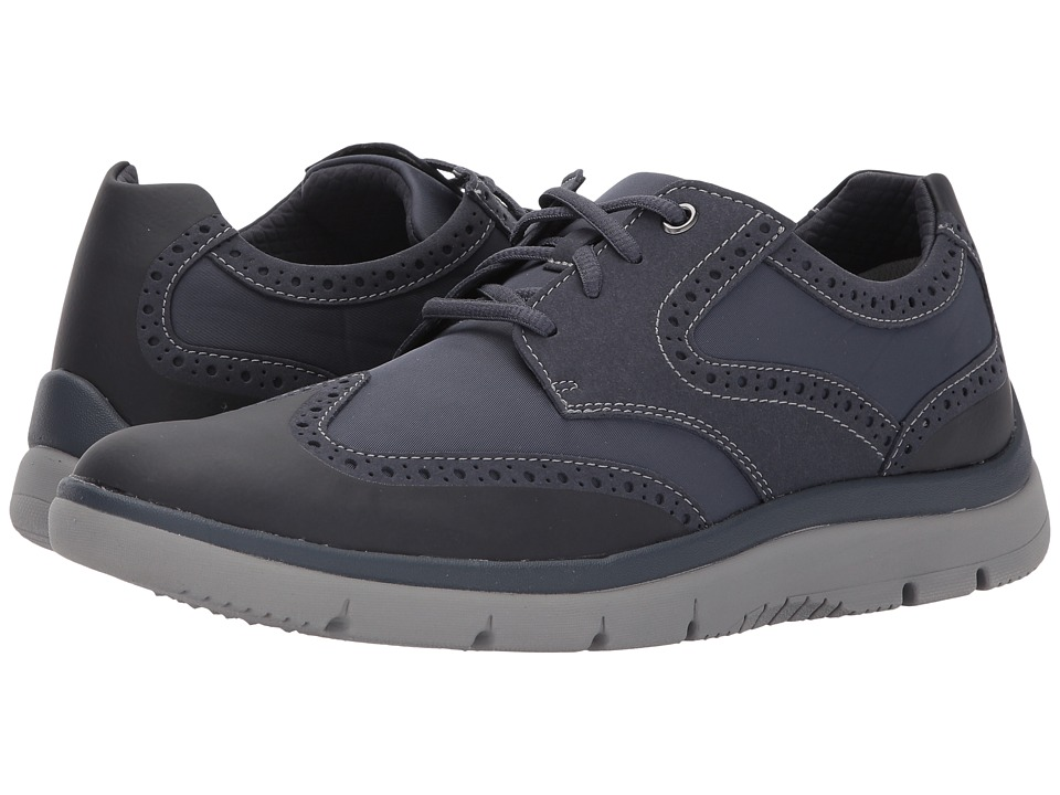 Clarks - Tunsil Wing (Navy) Men's Shoes