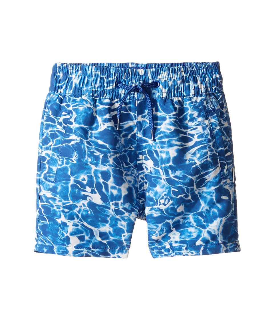 Paul Smith Junior - Pool All Over Printed Swim Trunk (Toddler/Little Kids) (Deep Blue) Boy's Swimwear