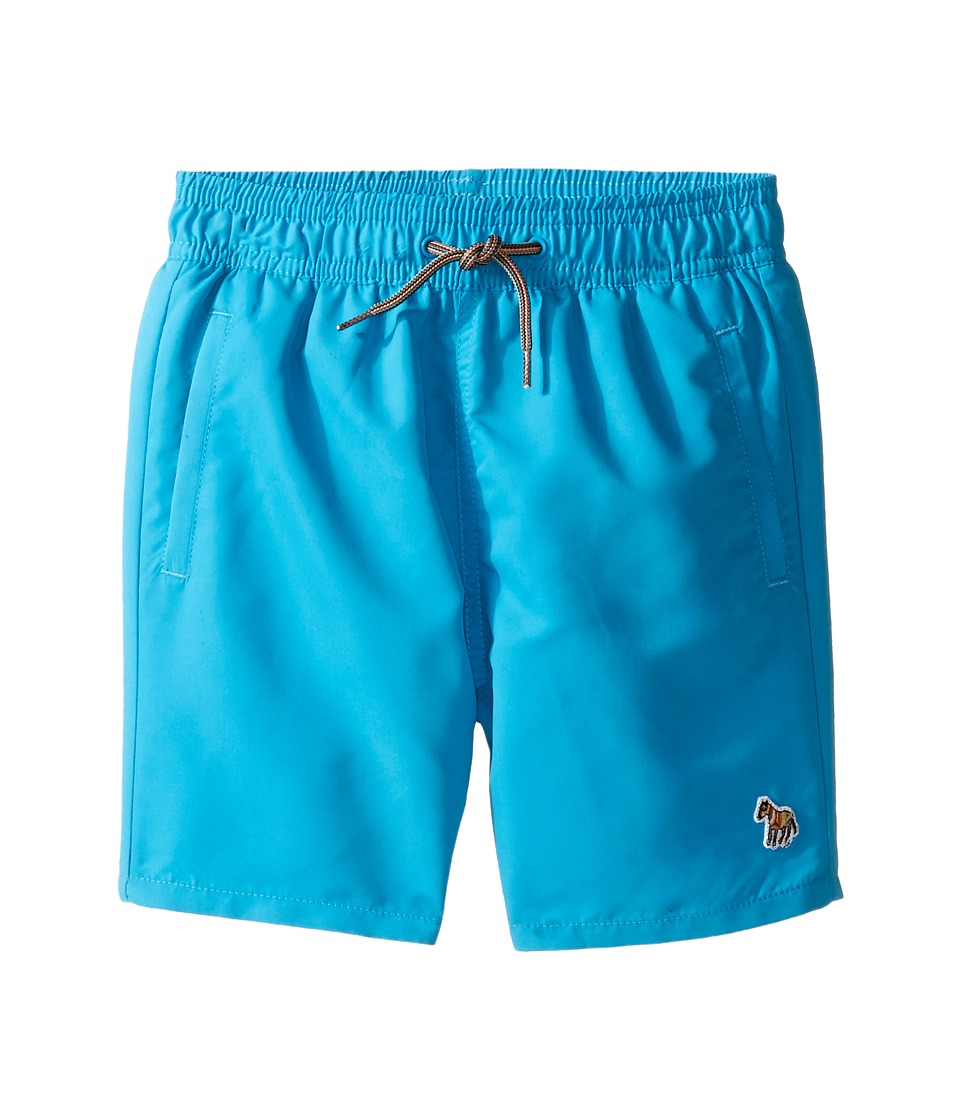 Paul Smith Junior - Turquoise Swim Shorts with Dino Appearing When Wet (Toddler/Little Kids) (Azur Blue) Boy's Shorts