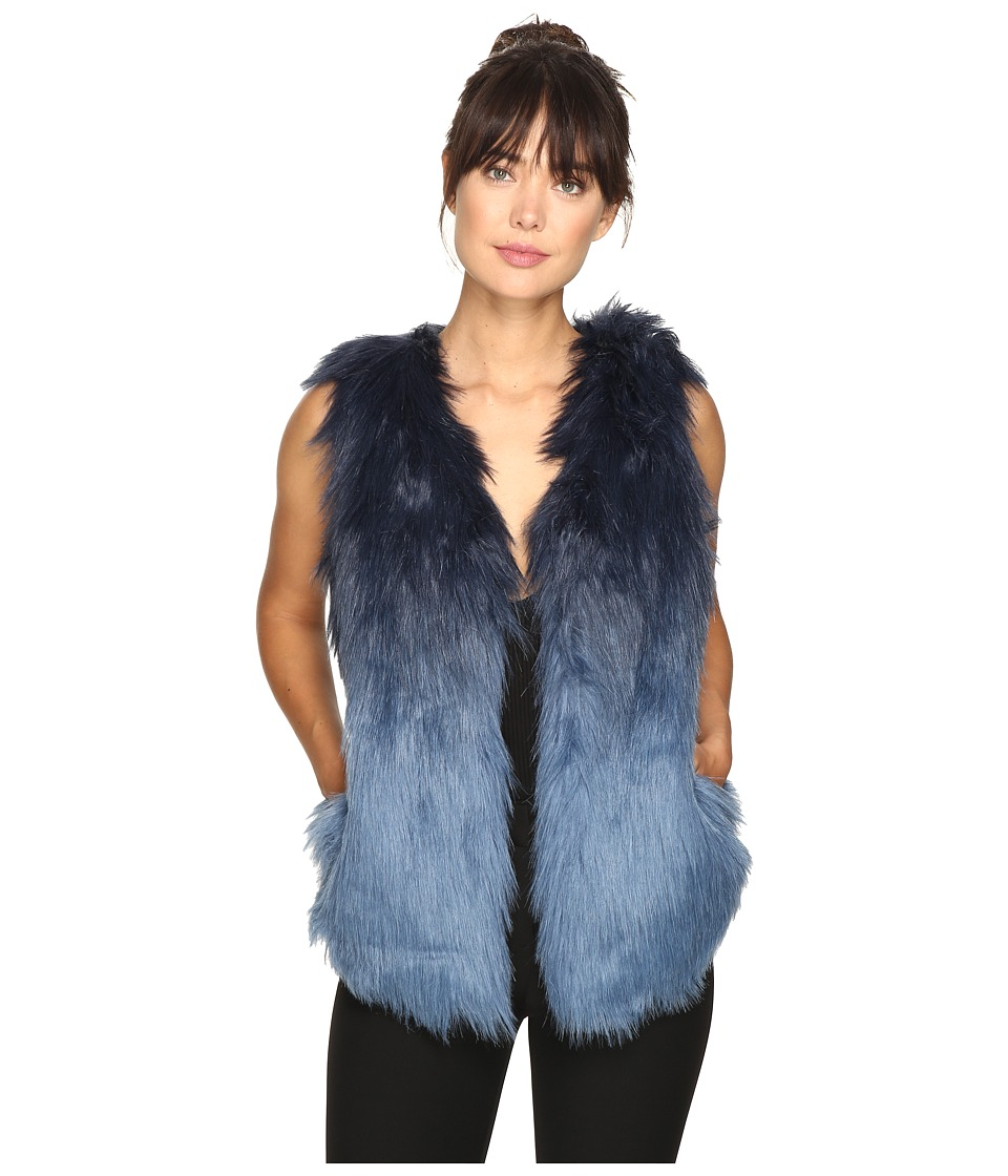 ROMEO & JULIET COUTURE - Faux Fur Vest (Navy Denim Blue) Women's Vest