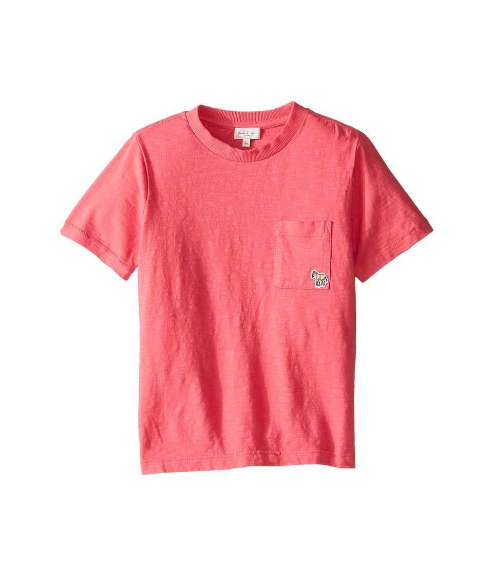Paul Smith Junior - Short Sleeve Fuchsia Tee with Pocket (Toddler/Little Kids) (Raspberry) Girl's T Shirt