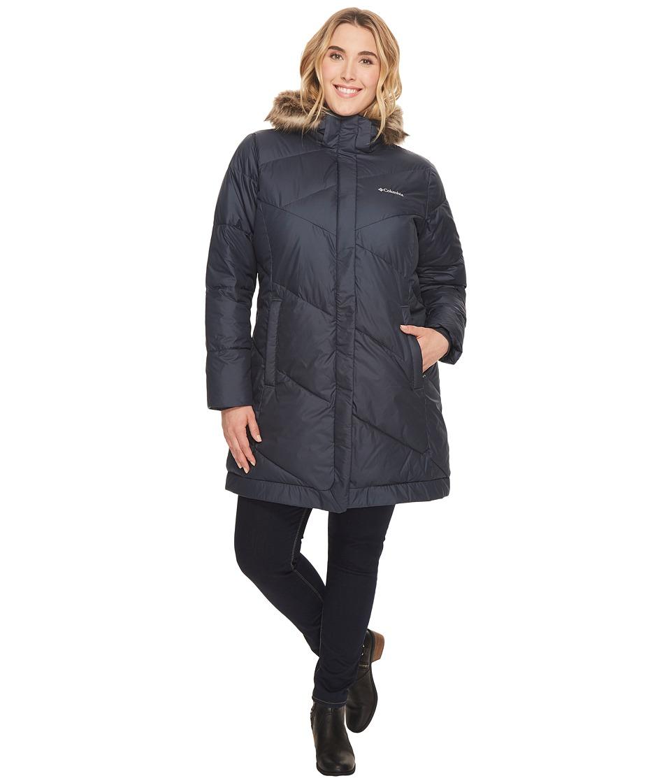 Columbia - Plus Size Snow Eclipsetm Mid Jacket (India Ink) Women's Coat