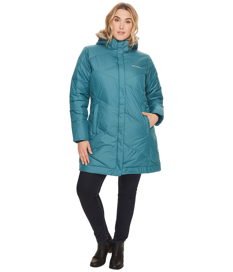 Columbia - Plus Size Snow Eclipsetm Mid Jacket (Cloudburst) Women's Coat