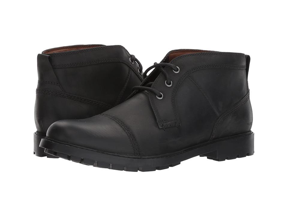 Clarks Curington Top (Black Leather) Men