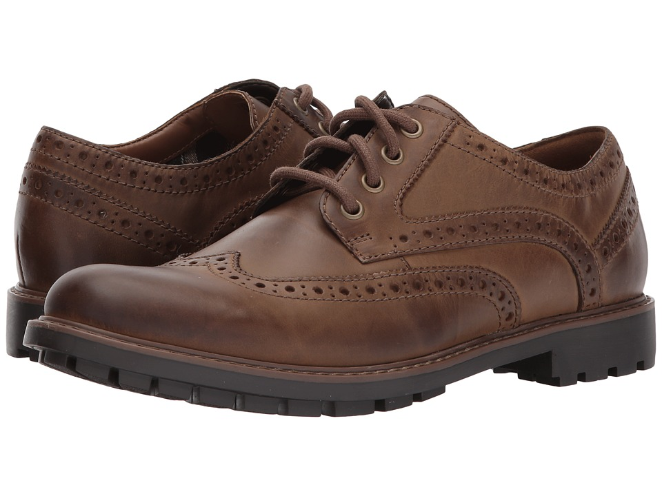 Clarks - Curington Wing (Brown Leather) Men's Shoes