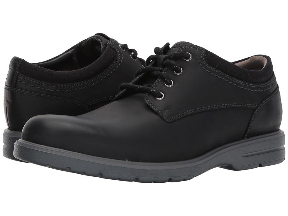 Clarks - Vossen Plain (Black Leather) Men's Shoes