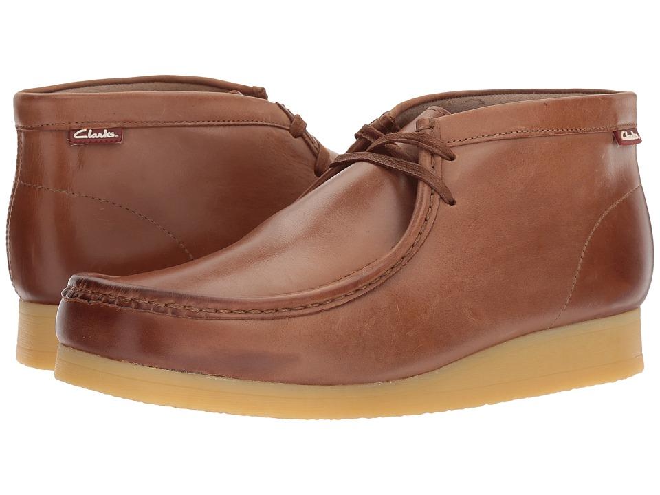 Clarks - Stinson Hi (Dark Tan Leather) Men's Lace-up Boots