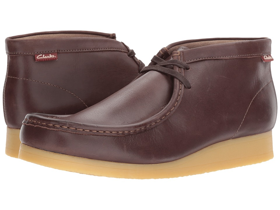 Clarks - Stinson Hi (Dark Brown Leather) Men's Lace-up Boots
